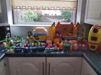 Peppa pig assortment including palace, rocket, train, car, campervan and many more