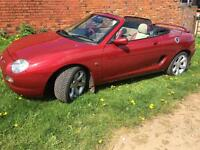 Mg mgf 1.8 vvc convertible sports car leather interior