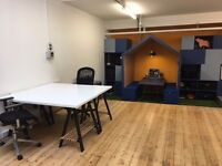 x2 desks in creative space - 2mins from Brixton tube!