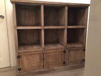 Wooden sideboard storage unit