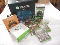 XBOX ONE 1TB ( Blue Forza with game ) BOX + MUCH MORE