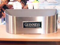 GUINNESS BAR TOP BEER CAN OR BOTTLE CONTAINER. IS MISSING INNER BUCKET. £12