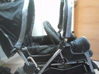 Double Pram available to sale -negotiable