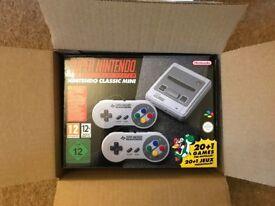 Brand New Super Nintendo SNES Mini Classic Console. Never Opened