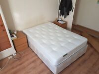 Double Mattress + Bed box + 2 Hypoallergenic Protectors, perfect condition for sale