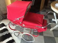 Silver Cross Dolls Carraige Pram with all the extras