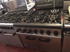 Commercial 6 burner Lincat cooker catering restaurant hotels pubs cafe bakery