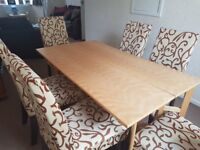 Dining Room Table and 6 Chairs, the chairs came separate but still look good together.