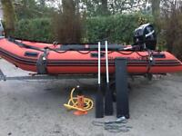 Quicksilver rib with 25hp 4 stroke mercury 2006 outboard engine for boat