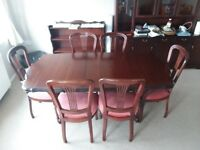 DINING TABLE + 6 CHAIRS # ROSSMORE # VERY GOOD CONDITION # EXTENDABLE