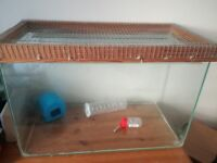 Hamster, Gerbil Small Animal Tank With Accessories