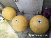 C R P Marine floats 19inch high by 55inch diameter ,, type,,purse floats ,,,