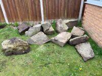 Large garden feature stones / rocks rockery assorted