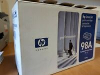 HP laserjet print catridge 98A, unused giving away fro free