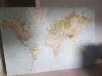 Large Ikea world map stretch canvas.