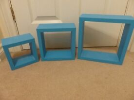 NEXT set of 3 decorative wall cubes, ideal for boys bedroom