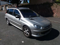 2003(53)PEUGEOT 206 2.0 D TURBO ESTATE MET SILVER,GOOD RUNNER,SPARES OR REPAIRS
