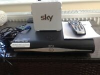 Sky Box, Router, Remote And Cables