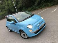 Automatic 2013 Fiat 500 Lounge in Baby Blue Excellent Condition