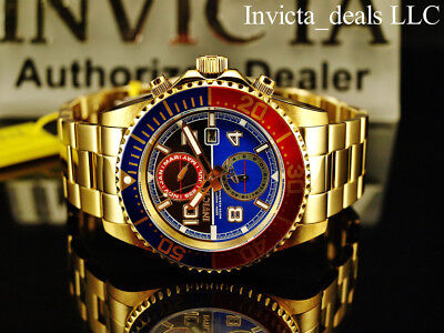 Invicta Mens 43mm Pro Diver Swiss Movement 18K Gold Plated Stainless Steel Watch