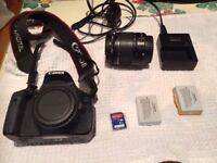 Canon 600D Digital SLR Camera, Lens, Flashgun, Tripod and extras