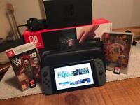 Nintendo Switch plus 2 Games & 64GB SD Card & Nintendo official case