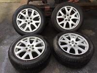 Landrover rangerover alloys set and tyres