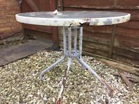 FREE - glass topped garden table