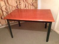 Hardwood Dining Table Seats 4-6 Solid Wood Teak Table - Solid and Sturdy with Bolt on Legs