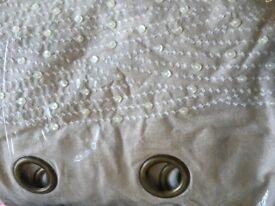 Bargain! New neutral Next eyelet curtains
