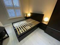 Ikea Malm double bed with 3 drawers
