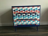 Upcycled spray-painted Retro chest of drawers