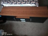 Gloss black TV stand in good condition