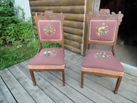 ***$25 EACH*** 2 ANTIQUE PARLOUR CHAIRS