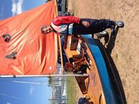 Mirror sailing dinghy sail no 24758 two sets of sails spare mast ,trolley ,reasonable condition.