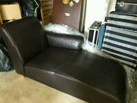 Living room or bedroom sofa in leather