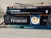 4 psychology A/AS level books.