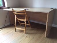 Large desk in great condition. Available in the next 3 days - or will have to take to the tip