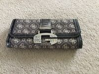 Ladies Guess grey monogrammed purse