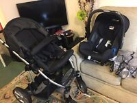 Britax B-Smart 4 Pushchair and Car Seat - Excellent