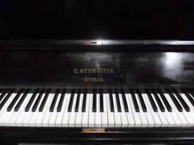 c bechstein black upright piano -- also required--