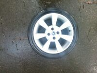 Fiat Panda 100hp alloy wheel in good condition with good tyre