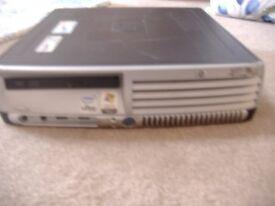 hp compaq desktop pc, intel duo core, 2.13 ghz , 2 gb ram , 80 gb hard drive, cd/dvd
