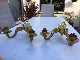 Brass Candle Light Fitting