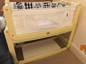 Snuzpod 2 yellow (many accessories) - 3 in 1 bedside / cosleep crib / cot