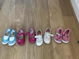 4 pairs Kids shoe size 6.5