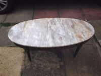 ONYX Topped FRENCH REGENCY Style COFFEE TABLE