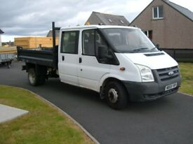 transit crew cab tipper in good clean condition £4850 ono