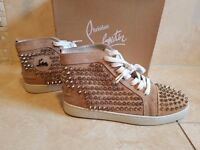 Men's Christian Louboutin Louis Calf Spikes Casual Shoes trainers Size 43 UK 9 BRAND NEW BOXED