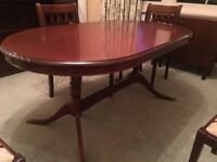 Quality dining table and 4 chairs